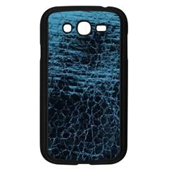 Blue Black Shiny Fabric Pattern Samsung Galaxy Grand Duos I9082 Case (black)