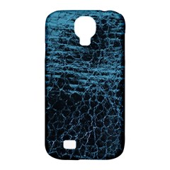 Blue Black Shiny Fabric Pattern Samsung Galaxy S4 Classic Hardshell Case (pc+silicone)