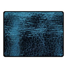 Blue Black Shiny Fabric Pattern Double Sided Fleece Blanket (small)