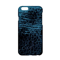 Blue Black Shiny Fabric Pattern Apple Iphone 6/6s Hardshell Case