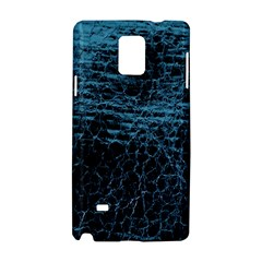 Blue Black Shiny Fabric Pattern Samsung Galaxy Note 4 Hardshell Case
