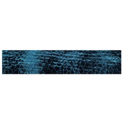 Blue Black Shiny Fabric Pattern Small Flano Scarf