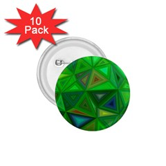 Green Triangle Background Polygon 1 75  Buttons (10 Pack)