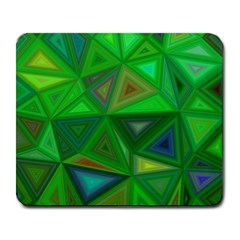 Green Triangle Background Polygon Large Mousepads
