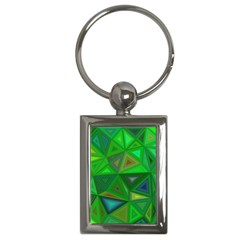 Green Triangle Background Polygon Key Chains (rectangle)