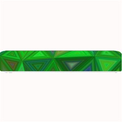 Green Triangle Background Polygon Small Bar Mats
