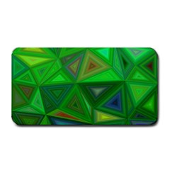 Green Triangle Background Polygon Medium Bar Mats