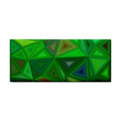 Green Triangle Background Polygon Cosmetic Storage Cases