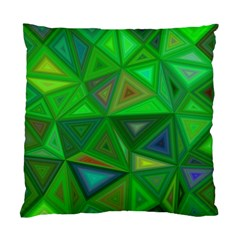 Green Triangle Background Polygon Standard Cushion Case (one Side)