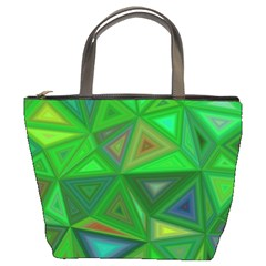 Green Triangle Background Polygon Bucket Bags