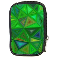 Green Triangle Background Polygon Compact Camera Cases