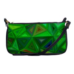 Green Triangle Background Polygon Shoulder Clutch Bags