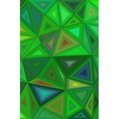 Green Triangle Background Polygon 5 5  X 8 5  Notebooks