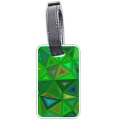Green Triangle Background Polygon Luggage Tags (two Sides)
