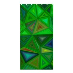 Green Triangle Background Polygon Shower Curtain 36  X 72  (stall)