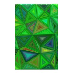Green Triangle Background Polygon Shower Curtain 48  X 72  (small)