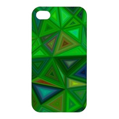 Green Triangle Background Polygon Apple Iphone 4/4s Hardshell Case