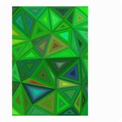 Green Triangle Background Polygon Small Garden Flag (two Sides)