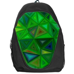 Green Triangle Background Polygon Backpack Bag