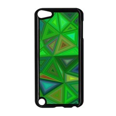 Green Triangle Background Polygon Apple Ipod Touch 5 Case (black)