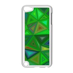Green Triangle Background Polygon Apple Ipod Touch 5 Case (white)