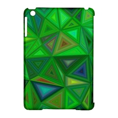 Green Triangle Background Polygon Apple Ipad Mini Hardshell Case (compatible With Smart Cover)