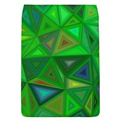 Green Triangle Background Polygon Flap Covers (s)