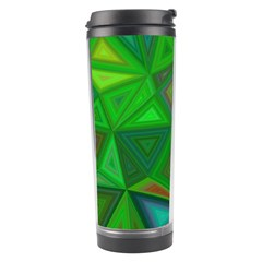 Green Triangle Background Polygon Travel Tumbler