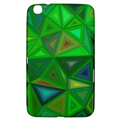 Green Triangle Background Polygon Samsung Galaxy Tab 3 (8 ) T3100 Hardshell Case