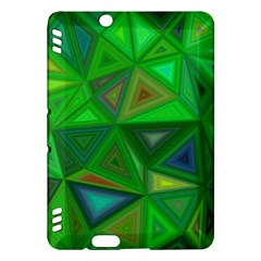 Green Triangle Background Polygon Kindle Fire Hdx Hardshell Case
