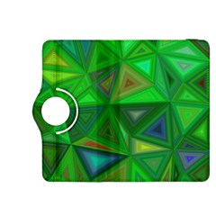 Green Triangle Background Polygon Kindle Fire Hdx 8 9  Flip 360 Case