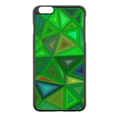 Green Triangle Background Polygon Apple Iphone 6 Plus/6s Plus Black Enamel Case