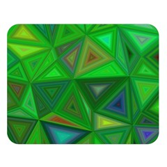 Green Triangle Background Polygon Double Sided Flano Blanket (large)
