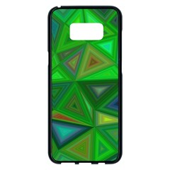Green Triangle Background Polygon Samsung Galaxy S8 Plus Black Seamless Case