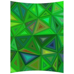 Green Triangle Background Polygon Back Support Cushion