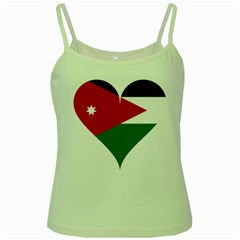 Heart Love Affection Jordan Green Spaghetti Tank