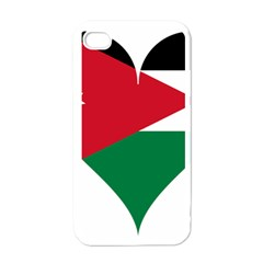 Heart Love Affection Jordan Apple Iphone 4 Case (white)
