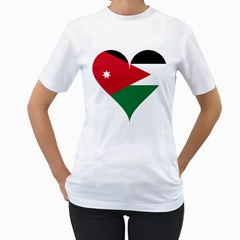 Heart Love Affection Jordan Women s T Shirt (white)