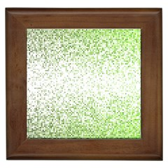Green Square Background Color Mosaic Framed Tiles
