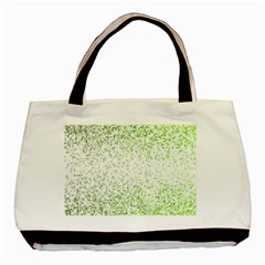 Green Square Background Color Mosaic Basic Tote Bag