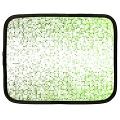 Green Square Background Color Mosaic Netbook Case (xxl)