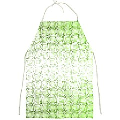 Green Square Background Color Mosaic Full Print Aprons