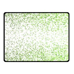 Green Square Background Color Mosaic Fleece Blanket (small)