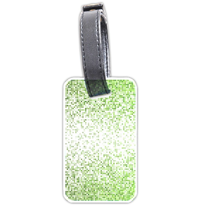Green square Background Color Mosaic Luggage Tags (One Side)