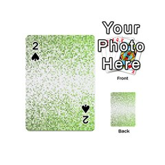 Green Square Background Color Mosaic Playing Cards 54 (mini)