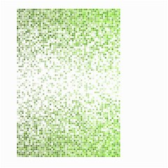 Green Square Background Color Mosaic Large Garden Flag (two Sides)