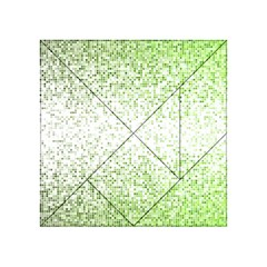Green Square Background Color Mosaic Acrylic Tangram Puzzle (4  X 4 )