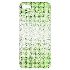 Green Square Background Color Mosaic Apple Iphone 5 Hardshell Case