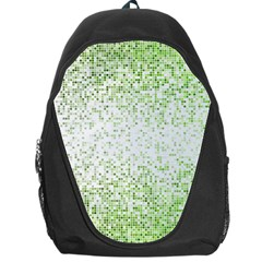 Green Square Background Color Mosaic Backpack Bag