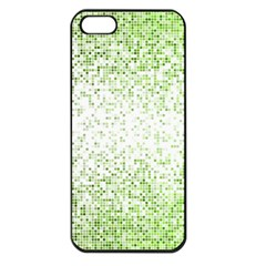 Green Square Background Color Mosaic Apple Iphone 5 Seamless Case (black)